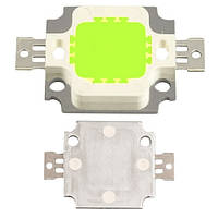 10х Светодиодная матрица LED 10Вт 450-540лм 9-10В, зеленая