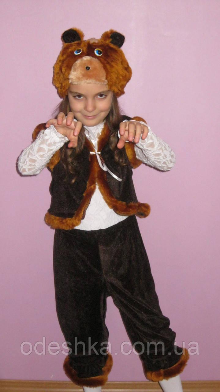 Детский карнавальный костюм медведя -