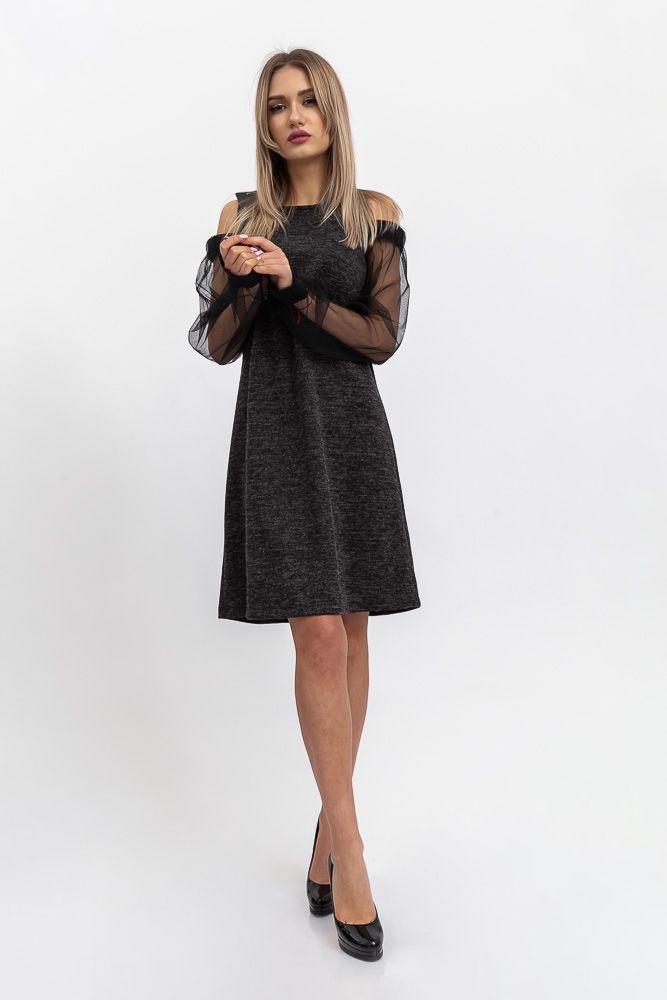 Платье женское 115R2681 цвет Темно-серый