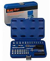 Набор инструментов 39 предметов. Качественный, профессиональный ручной инструмент King Roy в кейсе. 039-MDA