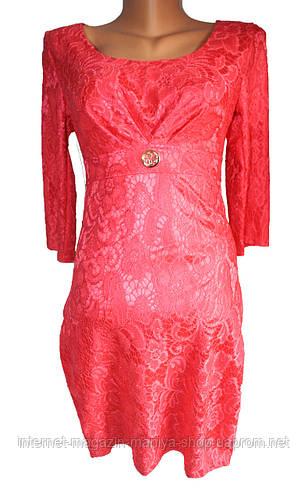 Женское платье гипюр атлас