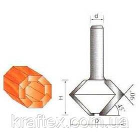 Фреза 2515 Sekira 12-157-480 (Кромка конусная для сращивания бочек) D48 h30 d12