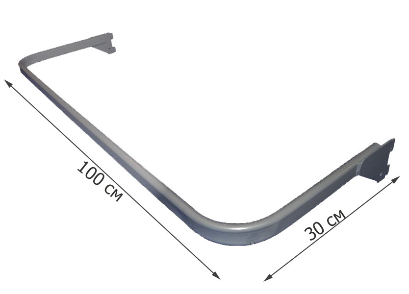 Дуга овальная серая в перфопрофиль 90 см