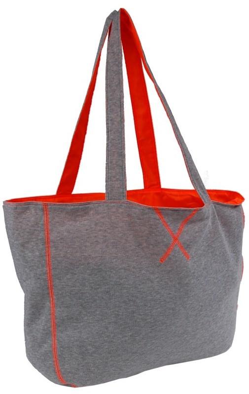 Спортивная женская сумка из хлопка 15L Corvet серая
