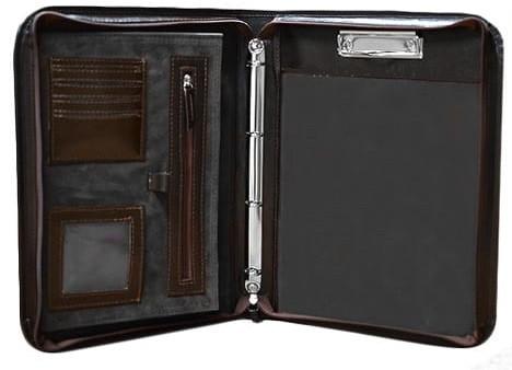 Кожаная деловая папка A-art TS1003-5 коричневая