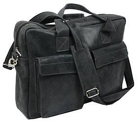 Cумка-портфель из натуральной кожи A-art TSL17-1 серая