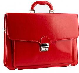 Женский красный портфель из эко кожи AMO