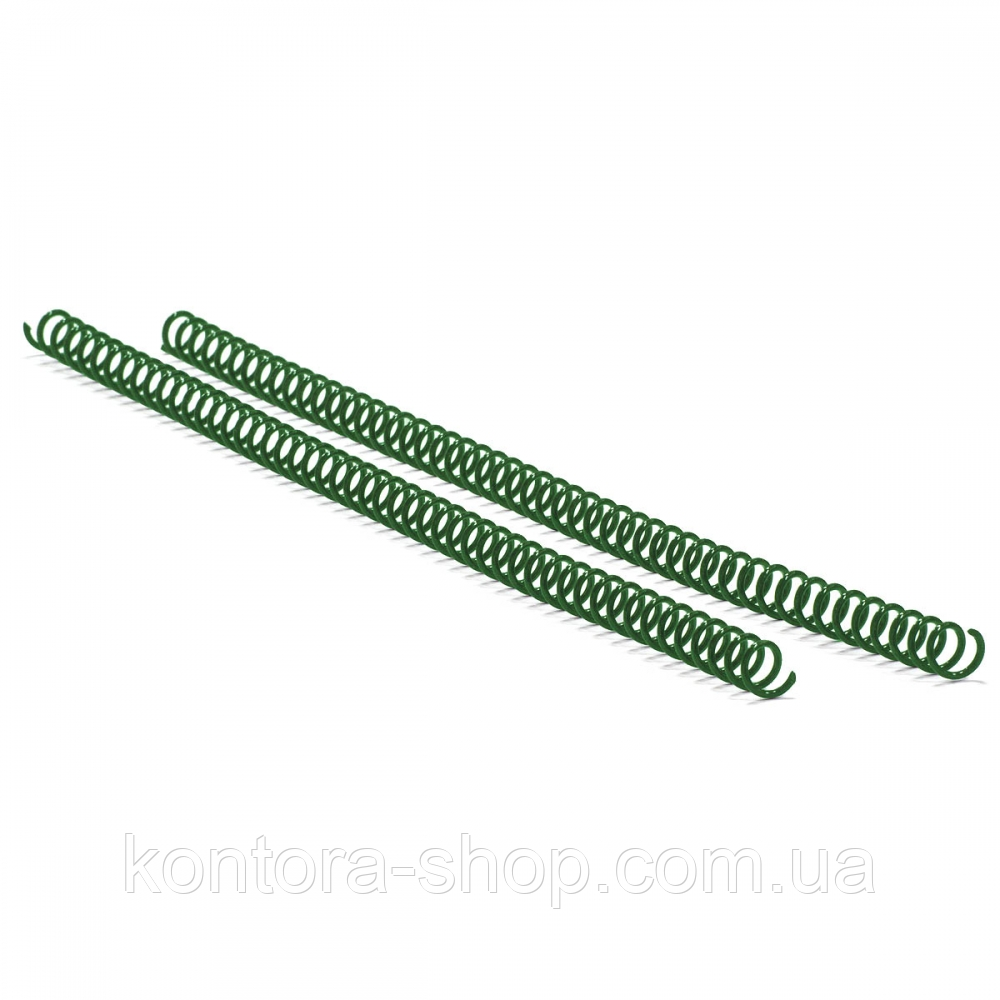 Спираль пластиковая А4 8 мм (4:1) зеленая, 100 штук