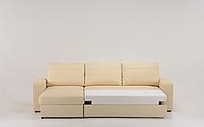 Кутовий шкіряний диван Філадельфія з отоманкою, фото 3