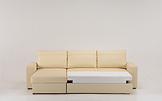 Угловой кожаный диван Филадельфия с оттоманкой, фото 3