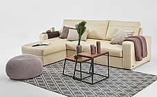 Угловой кожаный диван Филадельфия с оттоманкой, фото 2