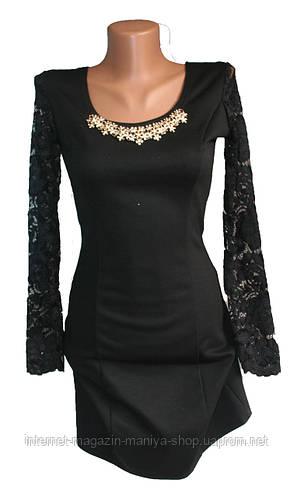 Женское платье гипюр