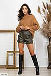Женские кожаные шорты со шнурком, фото 3