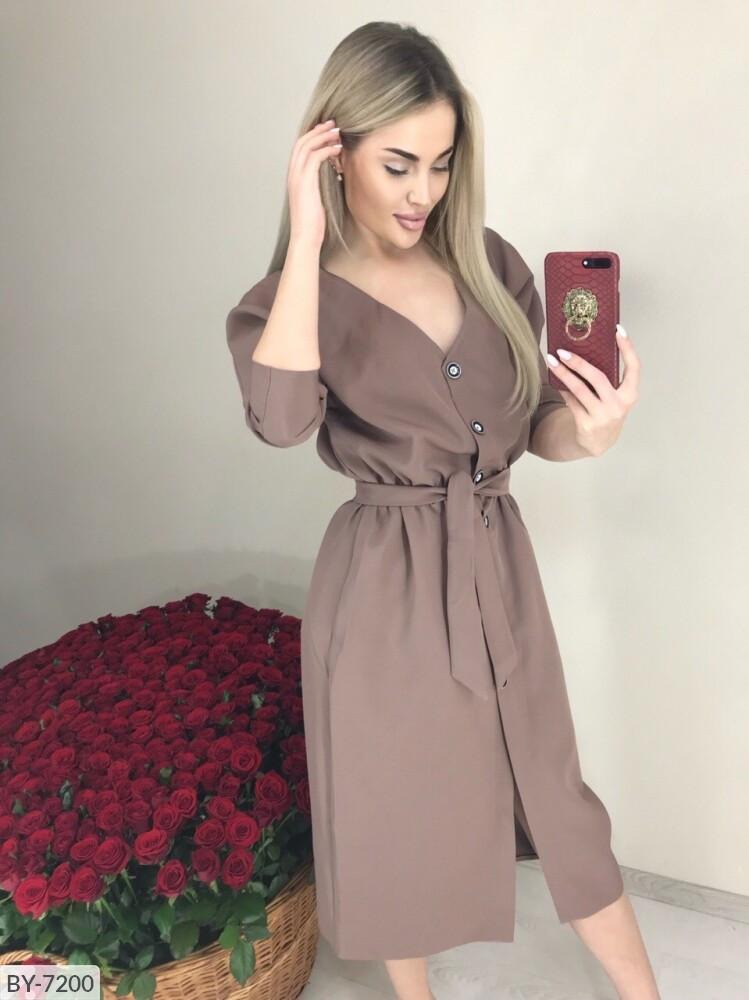 Миди платье рубашка
