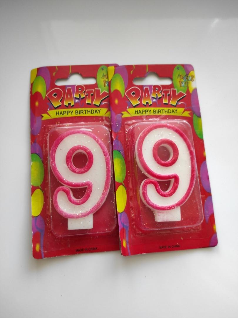 Свічки для торта цифри Україна якість цифра 9 дев'ять