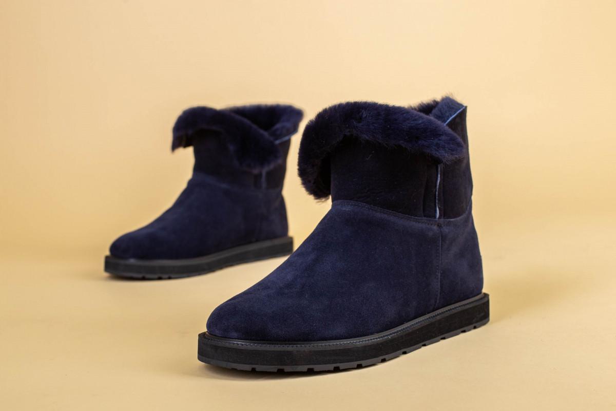 Замшевые синие угги для девочки