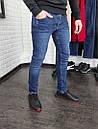 Мужские джинсы синие Slim fit, фото 3