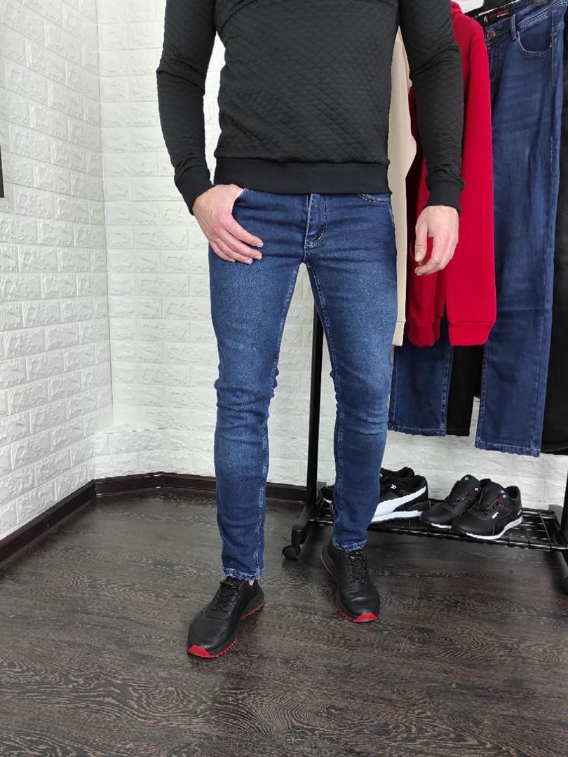 Мужские джинсы синие Slim fit