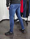 Мужские джинсы синие Slim fit, фото 2