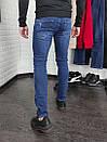 Мужские джинсы синие Slim fit, фото 7
