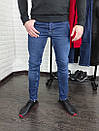 Мужские джинсы синие Slim fit, фото 5