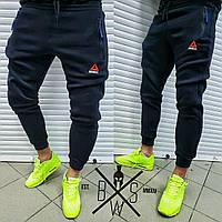 ТЕПЛЫЕ Reebok спортивные штаны черные зимние мужские