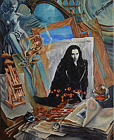 """Картина """"Кофе с коньяком в мастерской художника или ненаписанный роман"""""""