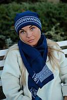 Комплект женский шапка+шарф, оптом