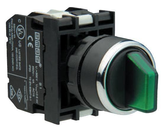 Переключатель 2-0-1 с фиксацией и блок-контактом подсветки без лампы (2НО)