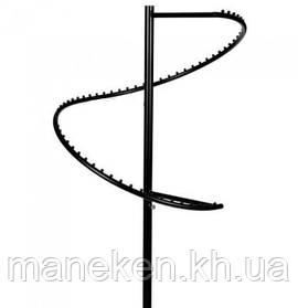 Стойка со спиралью (М) черная