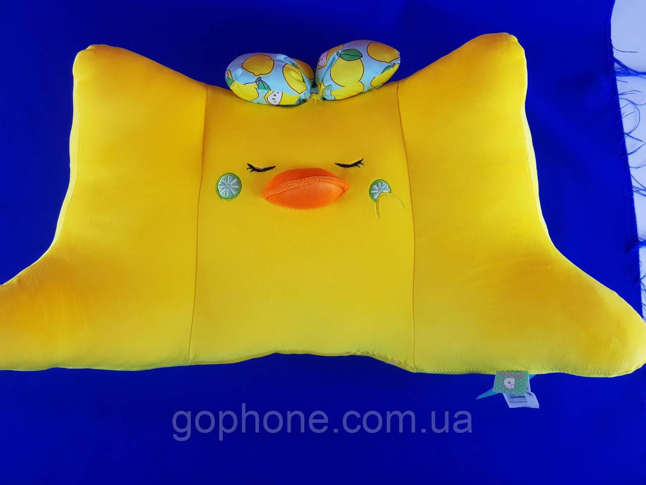 Декоративная подушка в форме уточки для сна и путешествий