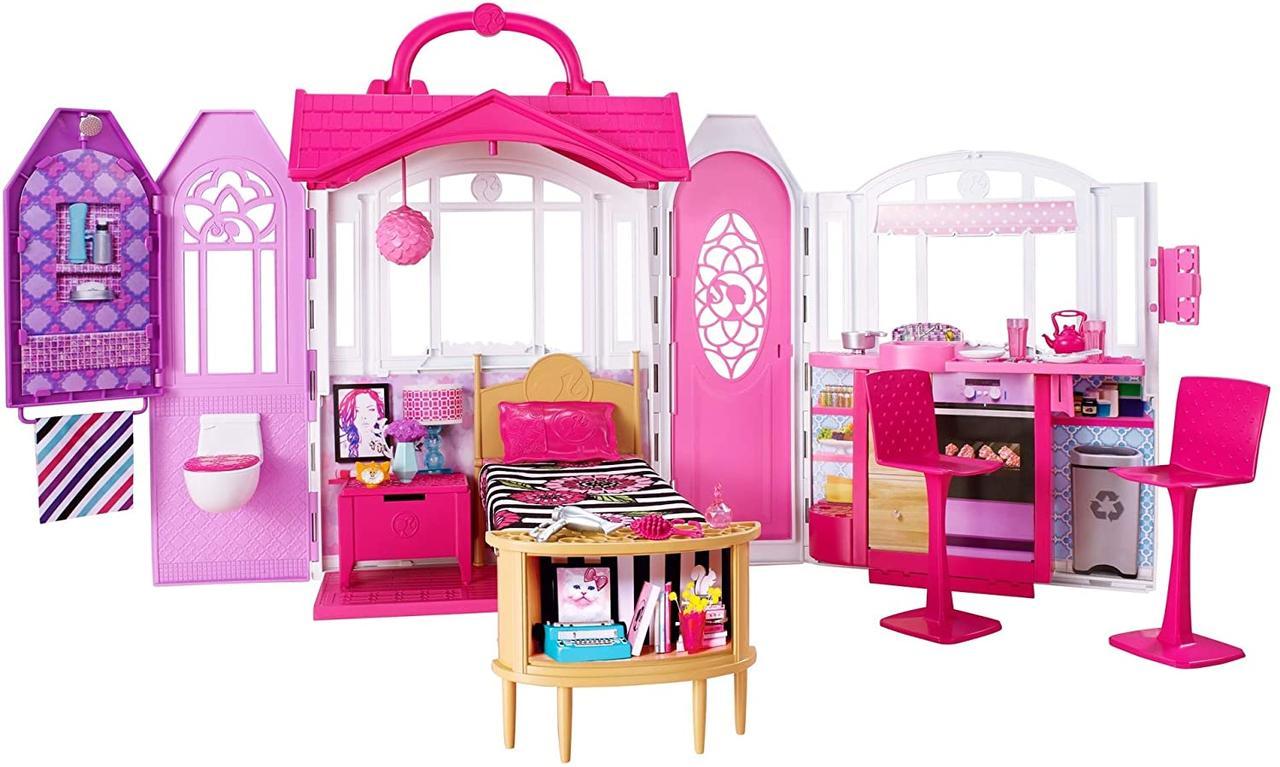 """Игровой набор Переносной Домик для куклы Барби с мебелью и аксессуарами - Barbie""""s Glam Getaway House CHF54"""
