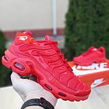 Кроссовки распродажа АКЦИЯ последние размеры 750 грн Nike TN Plus красные полностью38й(24см) люкс копия, фото 2