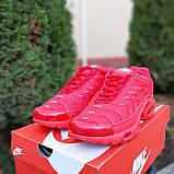 Кроссовки распродажа АКЦИЯ последние размеры 750 грн Nike TN Plus красные полностью38й(24см) люкс копия, фото 7