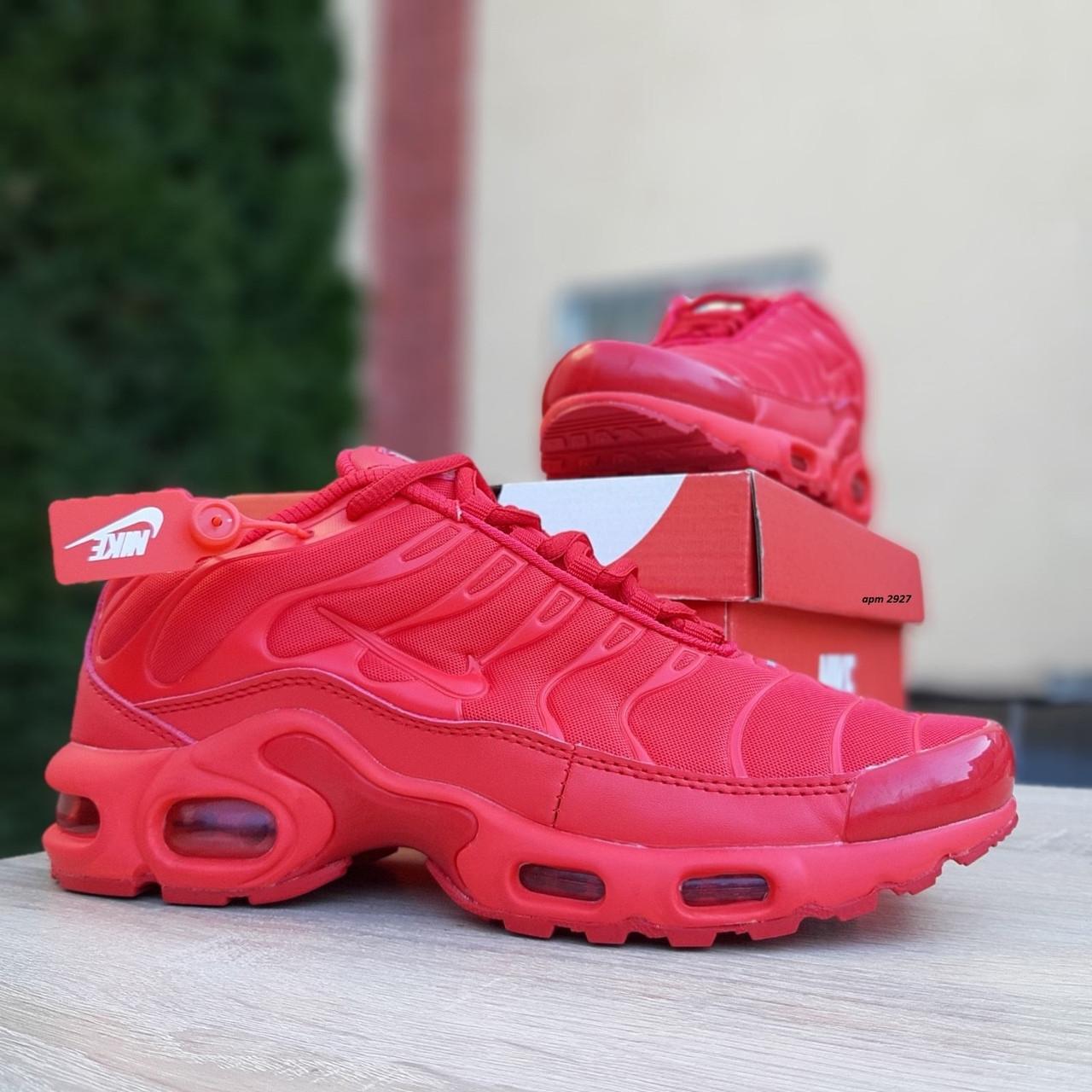 Кроссовки распродажа АКЦИЯ последние размеры 750 грн Nike TN Plus красные полностью38й(24см) люкс копия