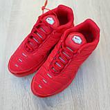 Кроссовки распродажа АКЦИЯ последние размеры 750 грн Nike TN Plus красные полностью38й(24см) люкс копия, фото 4