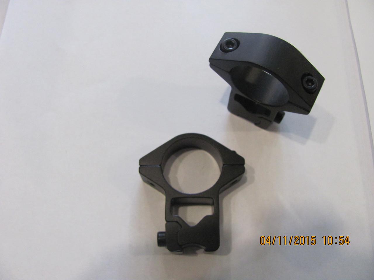 Кольца для крепления оптики 25мм, на ласту высокие , с отверстиями