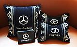 Подушка автомобильная вышиванка в авто с логотипом машины, фото 8