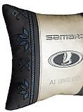 Подушка автомобильная вышиванка в авто с логотипом машины, фото 9