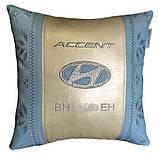 Подушка автомобильная вышиванка в авто с логотипом машины, фото 10