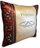 Подушка автомобильная вышиванка в авто с логотипом машины, фото 5