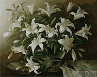 Рисование по номерам Белые лилии