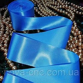 Ленты атлас голубой 50 мм 1 м