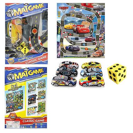 """Ігровий килимок RC223 (108шт/2)""""Rally"""",машинки, в пакеті 40*30см"""