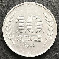 Монета Нидерландов 10 центов 1943 г., фото 1