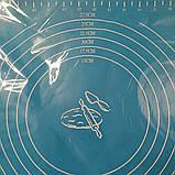 Cиликоновый коврик для выпечки 40CM*30CM Голубой, фото 3