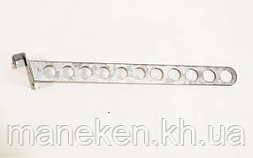 Кронштейн на рейку-опору коло з отворами