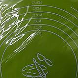 Cиликоновый коврик для выпечки 40CM*30CM Салатовый, фото 4