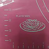 Cиликоновый коврик для выпечки 40CM*30CM Розовый, фото 4