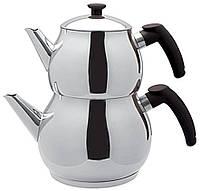 Подвійний чайник турецький Imex Maksi Boy (чайник 2 л + заварник 1,3 л)